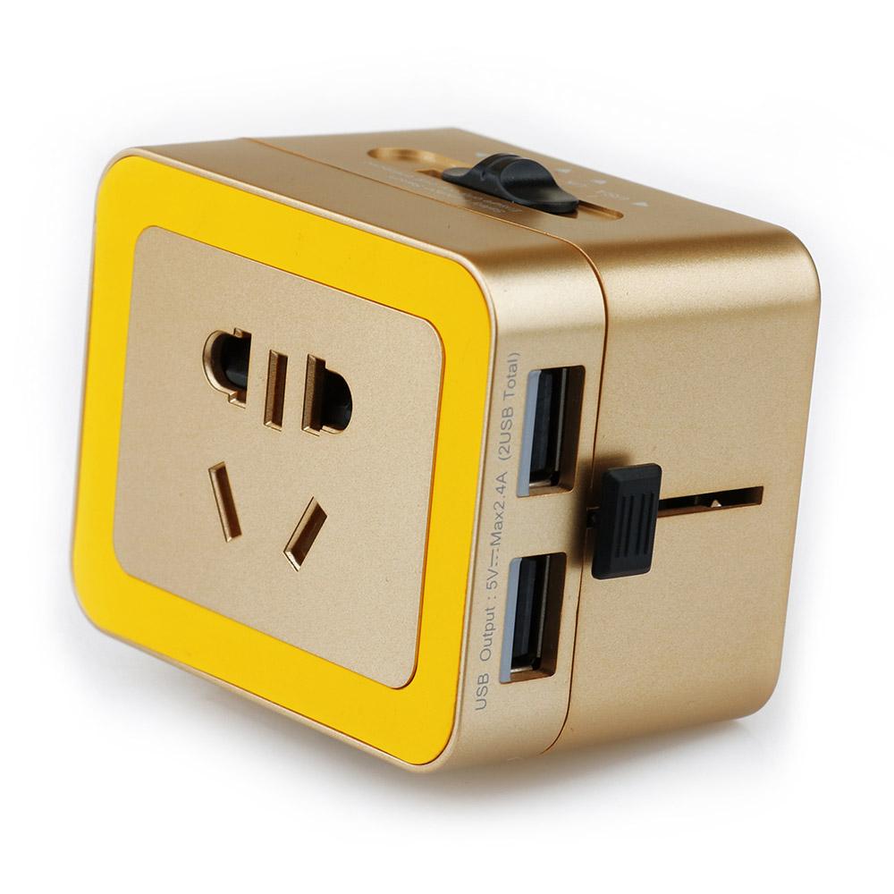 双USB一体式出国转换器
