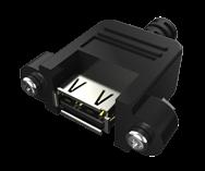 USB 2.0 A母螺纹到A电缆