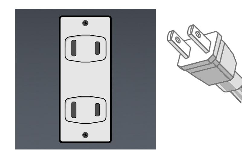 A型电源插头插座